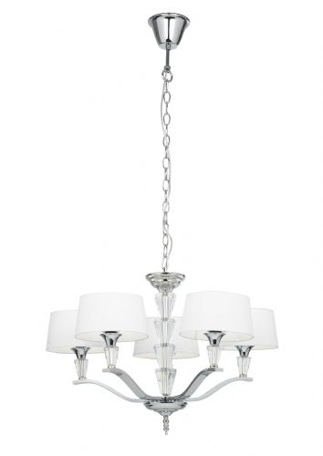 5 Light Ceiling Fitting In Polished Nickel FIENNES-5NI